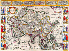 Antique Maps (divinumphoto) Tags: map antiquemapsoftheworld mapofasia janjansson c1632