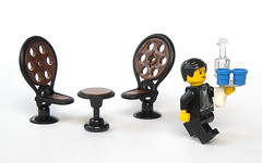 Peacock Chair (mijasper) Tags: table chair lego furniture interior butler minifig minifigs wicker rattan moc peacockchair
