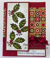 Flowers and Holly (Paula-Kay B.) Tags: peaceandjoy redrubberdesigns flowersandholly