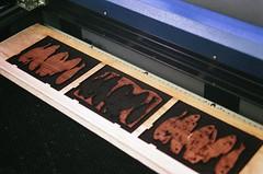 08770034-84 (jjldickinson) Tags: wood print cherry losangeles carving card printmaking olympusom1 sanpedro woodblock fujicolorsuperiaxtra400 mokuhanga laserengraving lasercuttingshop promastermcautozoommacro2870mmf2842 promasterspectrum772mmuv humanarray roll394