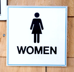 Exterior ADA Compatible Restroom Sign