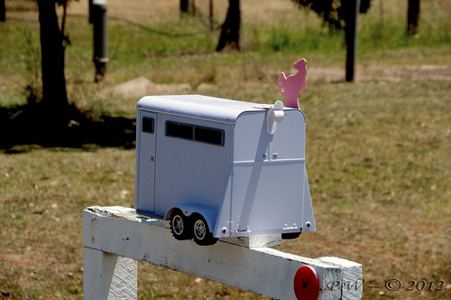 Horse float letter box