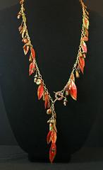 Touch of Fall Sumac necklace.jpg (Karen's Nature Art) Tags: elementsorganizer