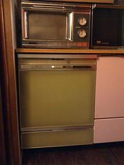 1969 Amana Radarange - 1969 Frigidaire Custom Imperial dishwasher. (PhilR2) Tags: canada 1969 vintage avocado gm scarborough dishwasher 1970 microwave own frigidaire generalmotors customimperial dwjmp