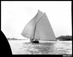 Yacht THELMA under sail on Sydney Harbour