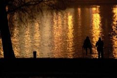 (.taz.) Tags: night river lights budapest silhouettes duna danube