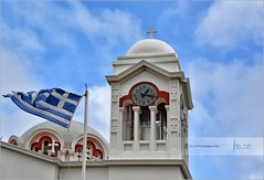 The Big Church of Holy Cross and Greek flag | Pedoulas, Cyprus (Stefan Cioata) Tags: photo stock image getty available top10 best beautiful sale photography explore outstanding great travel touristical destination vacation holiday exploring site scene scenery detail details europe view visit joy sight most lovely iconic advertise marketing tourism