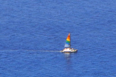 DSCN2378A - Rainbow Sailboat On The Ocean (PryanksterDave (Dave Price)) Tags: 2016 hawaii trip travel diamondhead
