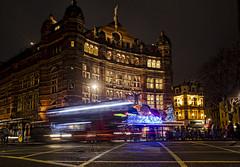 Palace Theater (Jan Kranendonk) Tags: london uk theater bus europe british palace night speed lighted illuminated shaftesbury avenue