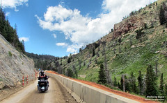 July 16 2016 - Short construction zone on Chief Joseph Highway (lazy_photog) Tags: lazy photog elliott photography chief joseph highway red lodge montana wyoming beartooth pass mountains motorcycle rally poker run trike 071616titusswimming