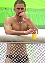 IMG_6512 (danimaniacs) Tags: losangeles westhollywood gaypride parade shirtless man guy male sexy hot hunk beard scruff speedo bikini swimsuit trunks lycra necklace jewelry tattoo