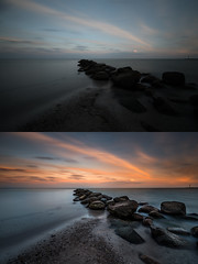 before/after Baltic Sea (A.R.F.R) Tags: sunset sunrise sun landscape sky himmel cielo sole sonnenuntergang sonnenaufgang sonne alba tramonto paesaggio deutschland germany nikon nikkor fotografie photography langzeitbelichtung wolken clouds cloud cloudporn longexposure light natur nature nuvole licht luce esposizionelunga naturanaturezza 1424mm d750 lightroom photoshop seascape sea water waterscape
