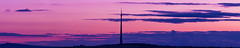 Emley Moor Tower (garethjones206) Tags: emley moor emleymoortower 6d canon panoramic southyorkshire sunset blue bluehour