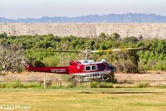 OC Fire Authority/USDA Forest Service FEPP UH-1H 66-01127 (KSBD Photo) Tags: oc fire authorityusda forest service fepp uh1h 6601127 american heros airshow