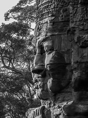 patrickrancoule-437 (Patrick RANCOULE) Tags: angkor angkorwat bouddha cambodge cambodia architecture bouddhisme noiretblanc sculptures temple visage