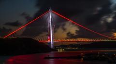 UMT_7736-2 (UmitCukurel) Tags: bridge turkey istanbul bosphorus sony nikon lightroom d750 sonyalpha bogazici kopru night poyrazkoy battleship gemi sky sunset dusk gunbatimi cloud