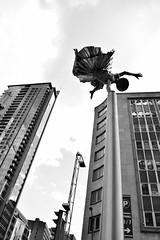 Skydancer (crazyxavphotos) Tags: sculpture statue dance dancing dancer ballet hiphop rapdance hiphopdance breakdance break art street streetculture streetart streetphotography urban urbanphoto urbanphotography blackandwhite monochrome