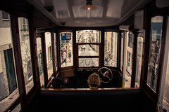 Ready to go down... (Gilderic Photography) Tags: funiculaire lisbon lisbonne lisboa portugal street funicular vacation city ville canon 500d gilderic
