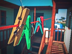 Clothespins (cyberain89) Tags: day iphone maxcurve summer clothespins
