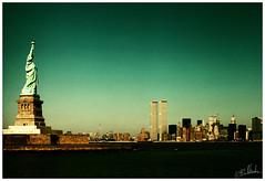 Lower Manhattan and Statue of Liberty, (antoniobraza) Tags: newyork nyc newyorkcity statueofliberty wtc twintowers worldtradecenter usa
