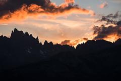 Minarets (zh3nya) Tags: hiking highsierra mountains minarets sunset clouds sky alpine silhouette contrast goldenhour d750 nikkor70200f4 california ca dark easterncalifornia mammothlakes vista visitmammoth orange glow jagged