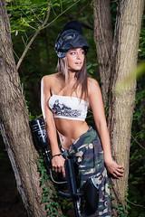 Dorina (viktor522) Tags: nikon d600 sb910 tamron 7020028 strobist girl female model paintball woods