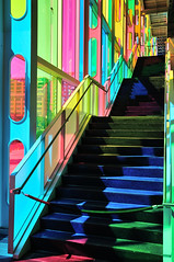 Colorful Stairway (J-Fish) Tags: palaisdescongrsdemontreal palaisdescongrs stairs steps colors montreal qubec canada d300s 1685mmvr 1685mmf3556gvr