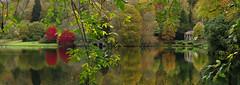 Autumn has arrived (Photo Gal 2009) Tags: autumn trees red orange lake reflection green fall yellow garden stourhead wiltshire nationaltrust waterreflection treereflection autumncolour beautifulplace autumnuk fallengland autumnengland stourheadlake falluk fall2012 autumn2012