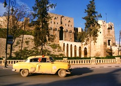 The Citadel in Aleppo, Syria (Unesco WHS, damaged in August 2012) (Frans.Sellies (off for a while)) Tags: syr00105 aleppo syria geo:lat=3619821407855716 geo:lon=37160857559524516 geotagged citadel       syrie syrien  siria halab taxi unescowhs unesco whs  welterbe heritage kulturerbe weltkulturerbe patrimonio werelderfgoed     unescoworldheritage worldheritage heritagelist heritagesite patrimoniodelahumanidad patrimoinemondial worldheritagelist worldheritagesite unescoworldheritagesite vrldsarv werelderfgoedlijst ph619 chevrolet  hama hamah    verdensarven