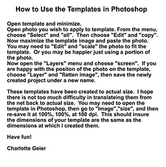 TEMPLATE USE INSTRUCTIONS (Charlotte Clarke Geier) Tags: computer print crafts digitalart computercrafts
