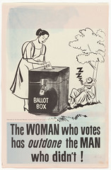 The Woman Who Votes, 10/08/1951 (The U.S. National Archives) Tags: poster democracy propaganda universal stereotypes shame womensrights gender voting ballot 1951 sexism thirdworld suffrage ballotbox propagandaposter uspropaganda stereotyping americanpropaganda leagueofwomenvoters civicinvolvement whitemansburden usnationalarchives october81951 nara:arcid=5730163 10081951