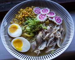 Ramen (ScottMattock) Tags: travel food fish chicken cooking japan canon photography japanese soup egg foodporn ramen chef eggs noodels