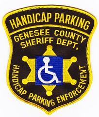 MI - Genesee County Sheriff Handicap Parking Enforcement (Inventorchris) Tags: county college club mi for justice community display michigan parking police criminal cop law enforcement sheriff patch handicap patches department genesee waubonsee
