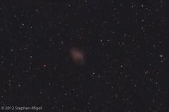 M1 Crab Nebula (S Migol) Tags: night pentax m1 astrophotography maxim astronomy messier crabnebula asteroid astrophoto darksky smigol maksutovcassegrain pixinsight pentaxk10d deepskystacker supernovaremnant Astrometrydotnet:status=solved stephenmigol Astrometrydotnet:version=14400 copyright2012 1997wn35 Astrometrydotnet:id=alpha20121159778927