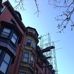 Beautiful #Autumn day in #Boston #brownstone #backbay #nofilter