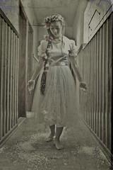 (Mei Todd) Tags: flowers snow cute girl japanese hotel model pretty longhair haunted spooky horror fakesnow braid