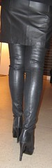 Going out for dinner in thigh high boots (Rosina's Heels) Tags: leather high boots thigh heel stiletto overknee
