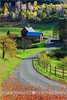 Sleepy Hollow Farm - Woodstock - Vermont (~ Floydian ~ ) Tags: autumn usa sunlight color colour green fall barn america canon season landscape morninglight scenery colorful vermont mood colours unitedstates farm scenic newengland peaceful atmosphere farmland foliage serene dirtroad colourful woodstock meijer henk sleepyhollow ridgeroad warmcolors pomfret strongcolors grayfarm floydian proframe proframephotography canoneos1dsmarkiii henkmeijer sleepyhollowfarm
