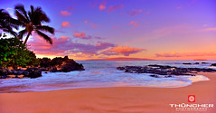 Red Dawn (Glen Thuncher) Tags: ocean sky beach sunrise hawaii nikon secretbeach maui fullframe fx hdr makena d700 nikond700 nikkor1635mmf4lens