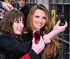 Nadine Coyle from Girls Aloud at the Kiss FM studios London, England