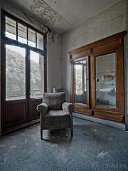 window chair mirror (ZerberuZ1) Tags: show urban reflection abandoned window mirror chair nikon belgium decay luxembourg armchair exploration derelict dri hdr decayed ue urbex d7000 nickonflickraward