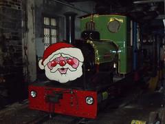 Santa train (ohefin) Tags: christmas camera old castle water nikon steam coal dolbadarn hunslet l26compact