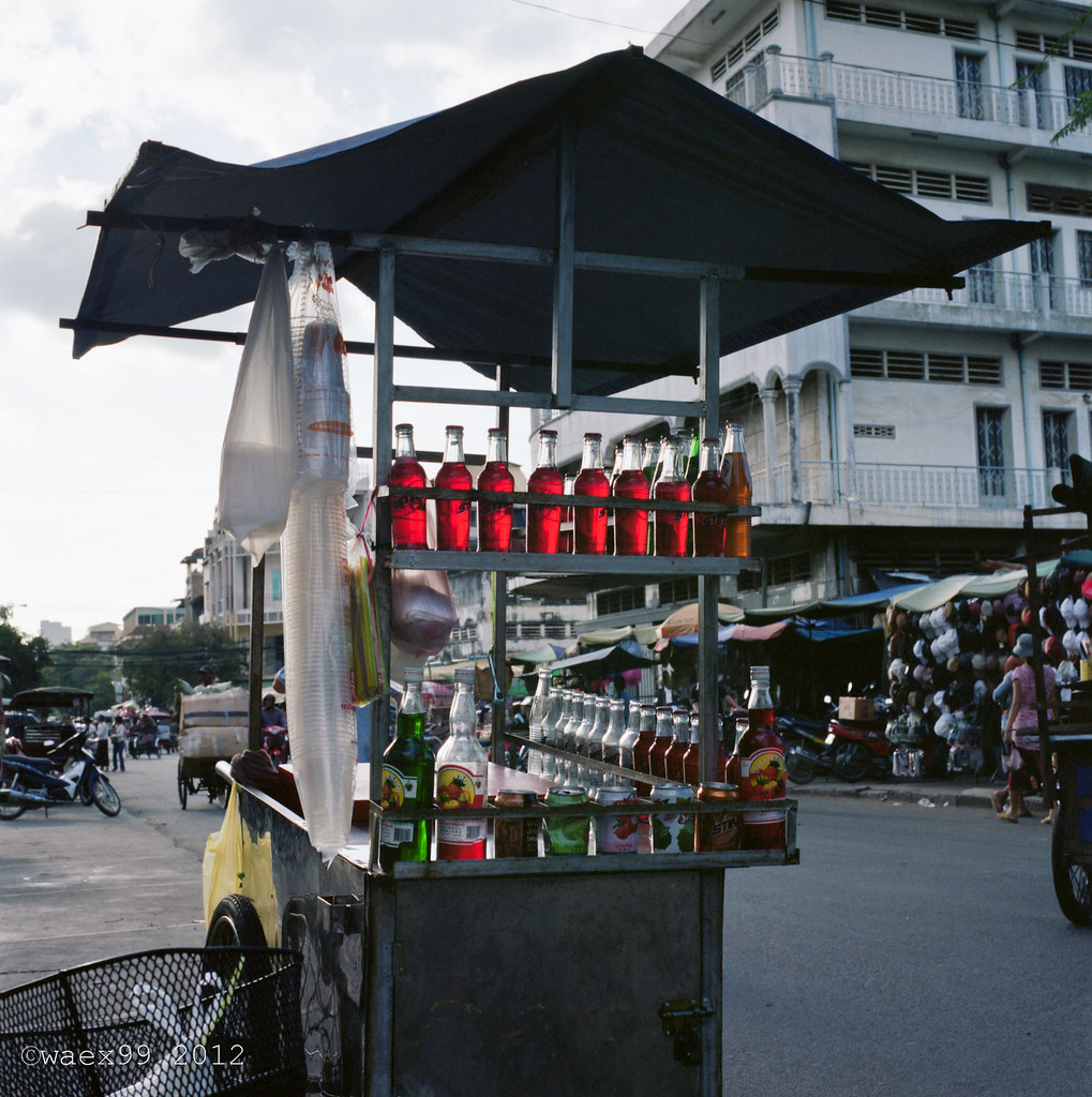Drink Stall - Siem Reap - Cambodge