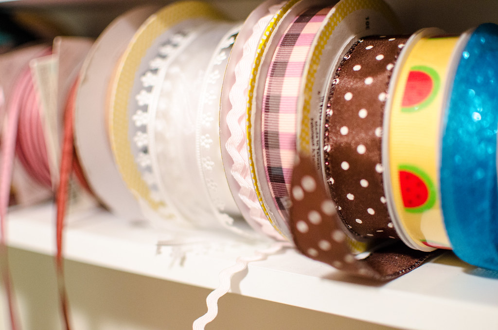 Ribbon on spools by m01229, on Flickr