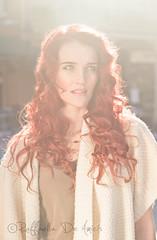 Canton_009 (RaffaLUCE) Tags: portrait woman sunlight fall blueeyes redhead greeneyes flare backlit redhair curlyhair cantonstreet atlantaphotographer atlantafashionphotographer molimophoto raffaelladeamicis jennalacy