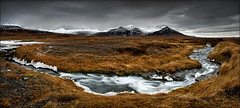 [ ... snæfellsnes autumn ] (D-P Photography) Tags: autumn brown colors rain clouds canon river flow island eos iceland stream soft mood colours herbst hard lee nd peninsula canoneos snaefellsnes ndgrad leefilters canoneos5dmarkiii