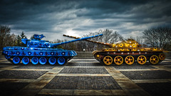 0311 - Ukraine, Kiev, Museum Of The Great Patriotic War HDR (Barry Mangham) Tags: friends museum fight memorial war peace tank ukraine kiev  hdr flowerpower    stalemate