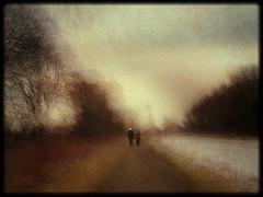 An autumn walk  (the way young lovers do) (kenny barker) Tags: longexposure winter sunset blur art texture landscape lumix scotland canal impressionism icm falkirk camelon alwaysexc panasonicg1 kennybarker