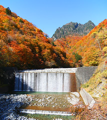 IMG_9652-IMG_9653 (youkaine) Tags: november autumn red orange mountain yellow japan forest river waterfall hiking autumncolors foliage 日本 紅葉 秋 山 yamanashi 11月 川 ハイキング 山梨 nishizawakeikoku 葉っぱ 山梨県