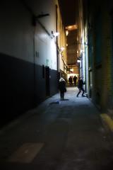tra la 2 (duncan!) Tags: street leica people night 35mm pose dark alley shadows f14 strike walkers summilux strikeapose m9p